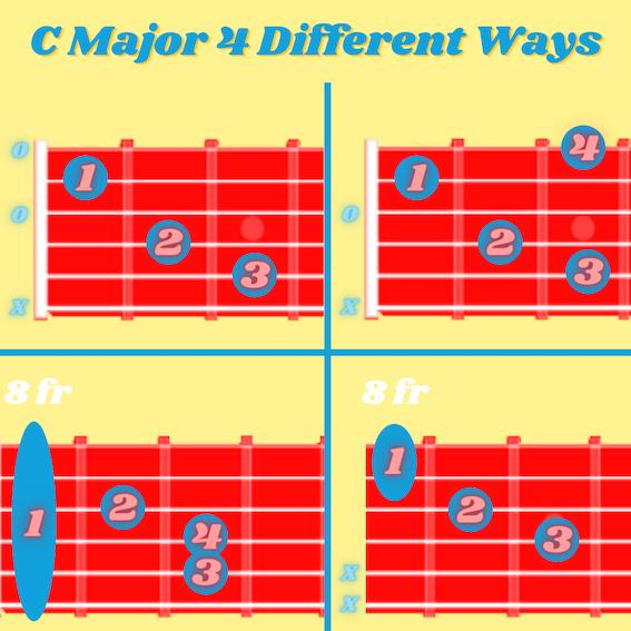 C major 4 ways